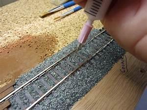 Pose Et Dcor De La Voie Construction Train Miniature HO