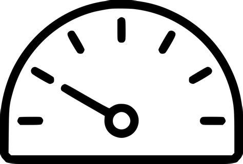 Gauge Dash Dashboard Speed Widget Performance Svg Png Icon