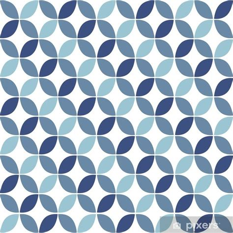 papier peint motif bleu g 233 om 233 trique retro seamless