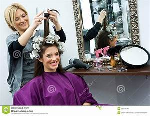 Hair Stylist At Work Royalty Free Stock Image - Image ...