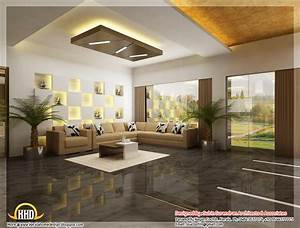beautiful 3d interior office designs kerala home design With interior design in kerala homes