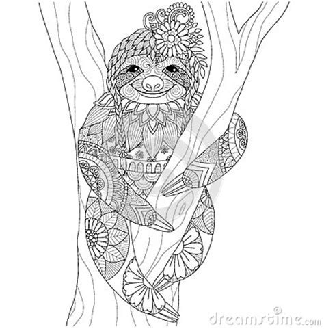 Sloth stock vector image 65672013