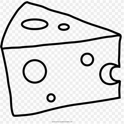 Cheese Coloring Drawing Formaggio Colorare Clipart Queijo