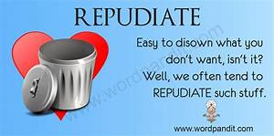 Repudiate | Wordpandit
