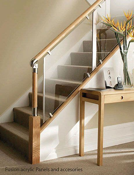 Stair Banister Glass by Glass And Wood Stair Railing Home Design In 2019