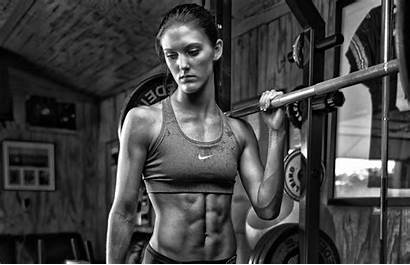 Fitness Gym Sports Monochrome Exercise Woman Wallpapers