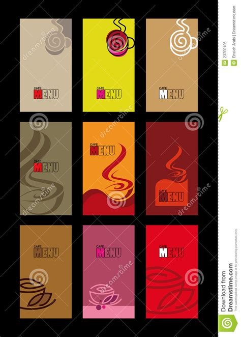 Cafe Menu And Business Card Templates Stock Vector   Image: 23700106