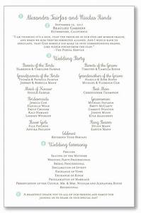 ceremony program layout wedding programs pinterest With layout of wedding ceremony