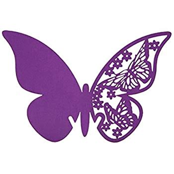 Amazon com: 50pcs Butterfly Wedding Party Table Number