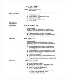 resume format pdf file hvac resume template 7 free sles exles format download free premium templates