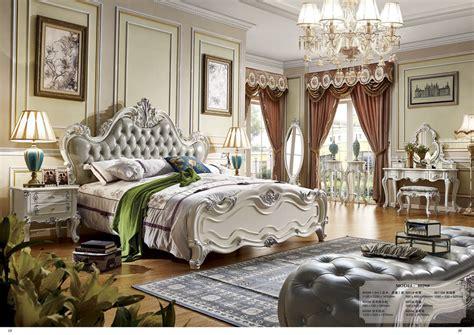 bed room grey leather big bed design furniture