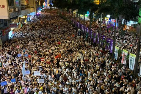 Hong Kong on Security Alert As Thousands March In Fresh ...