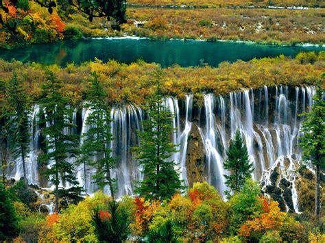 nuorilang waterfall jiuzhaigou sichuan china beautiful