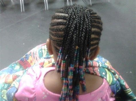 Kiddie Braided Mohawk With Beads..