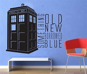 dr who something blue tardis wall decal by geekerymade With the best of doctor who wall decals