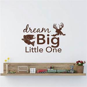 Dream Big Little One ⃝ Wall Wall Decal Rustic Nursery Ξ