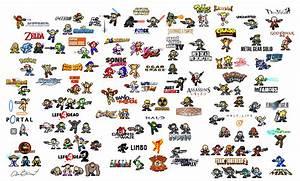 Personnages de jeux vidéos en 8bits