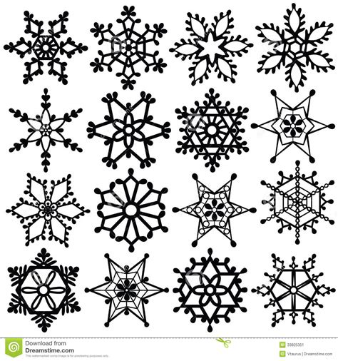 Snowflake Background Black And White by Black Snowflake Clipart Clipart Suggest