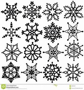 Black Snowflake Clipart - Clipart Suggest