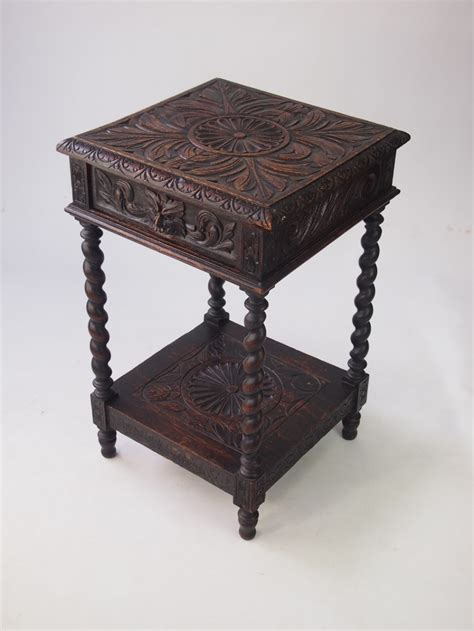 small revival oak side table 355044
