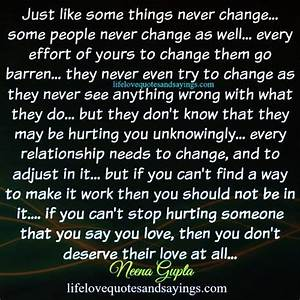 People Never Change Quotes QuotesGram