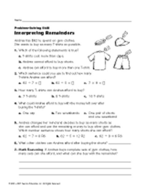 interpreting remainders teachervision