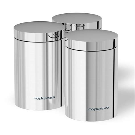 airtight kitchen canisters morphy richards set of 3 storage canisters tj hughes