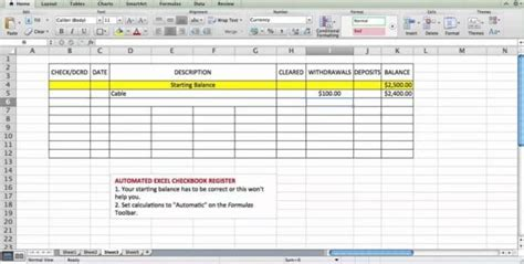 excel bank account template accounting spreadsheet