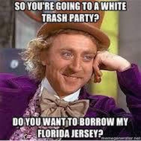 White Trash Meme - best florida football memes from the 2015 season