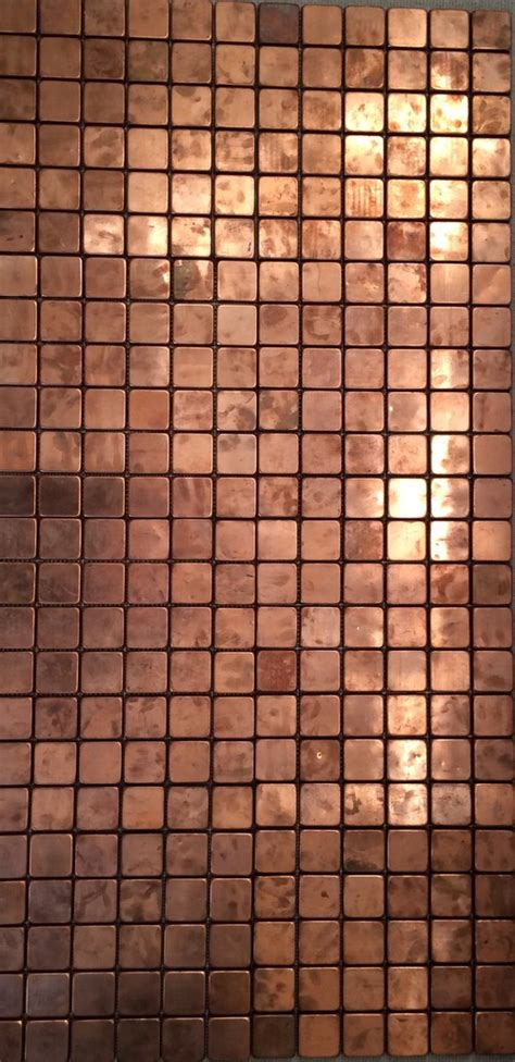 copper mosaic tile ideas of use of real copper mosaic tiles