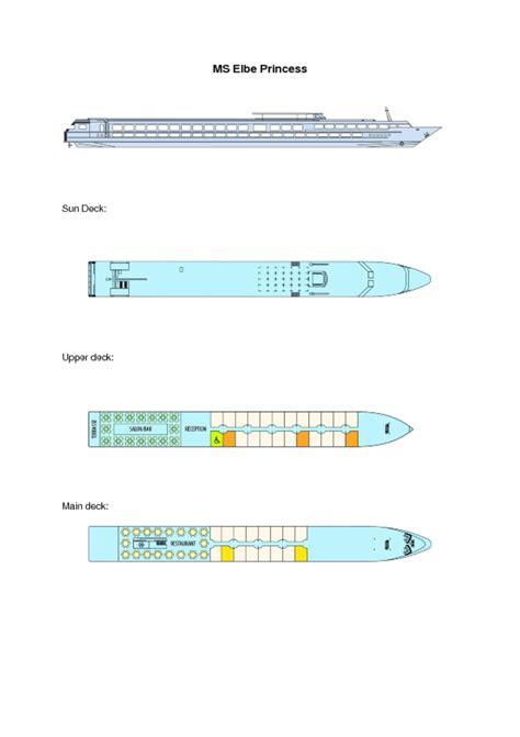 ms princess deck plan ms elbe princess cruise ship offers deck plan images