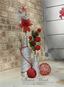 Wine, Bottle, Diy, Christmas, Decor