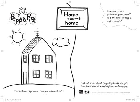 Peppa Pig Home Sweet Home colouring Scholastic Kids' Club