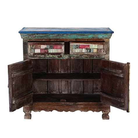 Coloured Sideboards by Tangier 36 5 Quot Mosaic Multi Colored 2 Door 2 Drawer Buffet