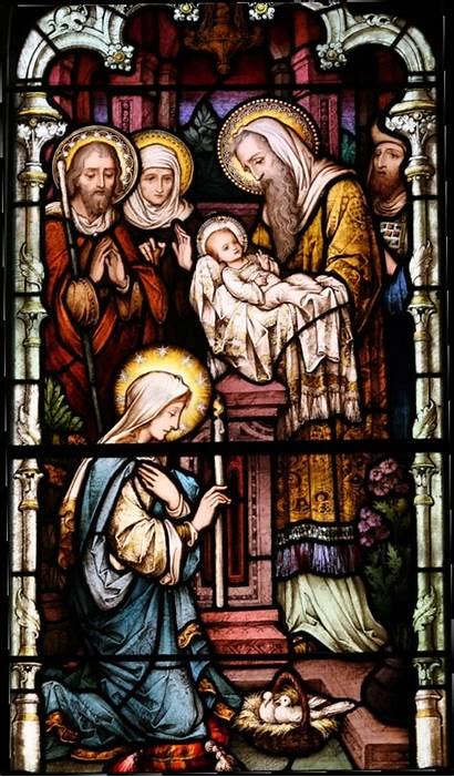 Temple Presentation Jesus Church Stained Glass Catholic