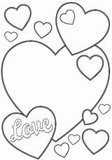 Valentine Coloring Pages Card sketch template