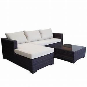 garten lounge couch aus polyrattan gartencouch sofa braun With französischer balkon mit garten lounge wetterfest