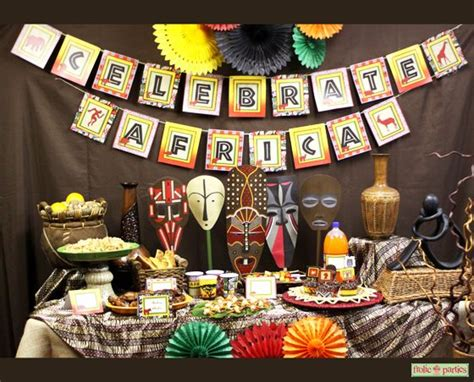 ideas for christmas decorting for south africa at school celebrate africa printable supplies safari animal print tribal decorations