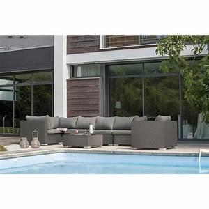 Salon De Jardin 6 Personnes : salon bas de jardin athena textil ne 6 personnes leroy ~ Dode.kayakingforconservation.com Idées de Décoration