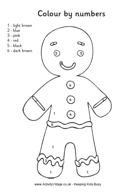 colour  numbers gingerbread man print outs gingerbread man gingerbread man activities