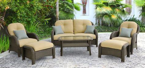 hanover newport 6 wicker outdoor conversation set