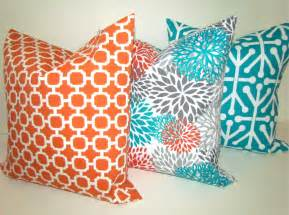 Decorative Pillows For by Sale Throw Pillows Set Of 2 16x16 Teal Orange Throw