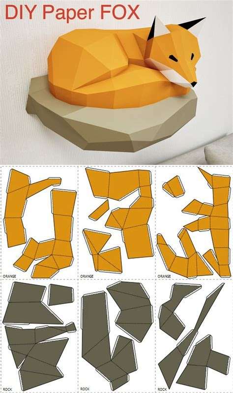 3d template 1554 best fox foxy foxes images on fox fabrics and fused glass