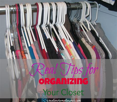 real tips to organize your closet creative home keeper