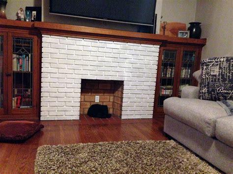 whitewash  brick fireplace barr bungalow