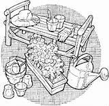 Tools Coloring Garden Gardening Bulk Bulkcolor sketch template
