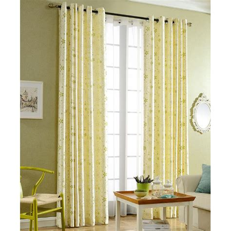 yellow velvet curtains light yellow botanical print velvet nursery grommet curtains 1225