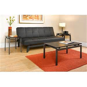 hometrends 3 piece coffee end tables set dark gray