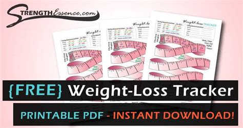 weight loss tracker template   instant