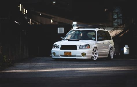 2015 subaru forester stance wallpaper tuning japan low face white wheels sti